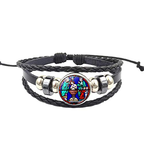 - AckfulRose Window Stained Glass Paris Cathedral Woven Bracelet Handmade DIY (G)