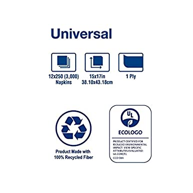Amazon.com: Tork N5186 Universal Dinner Napkin, 1/8 Fold, 1-Ply, 17.0