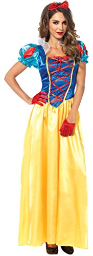 Leg Avenue Women's 2 Piece Classic Snow White Costume, Multicolor, Large