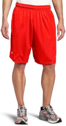 Russell pantalones cortos de malla con bolsillos para hombre
