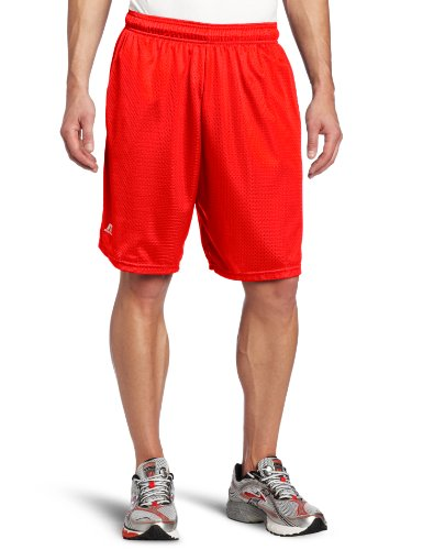 Russell Athletic Men's Mesh Short with Pockets, True Red, 4X-Large