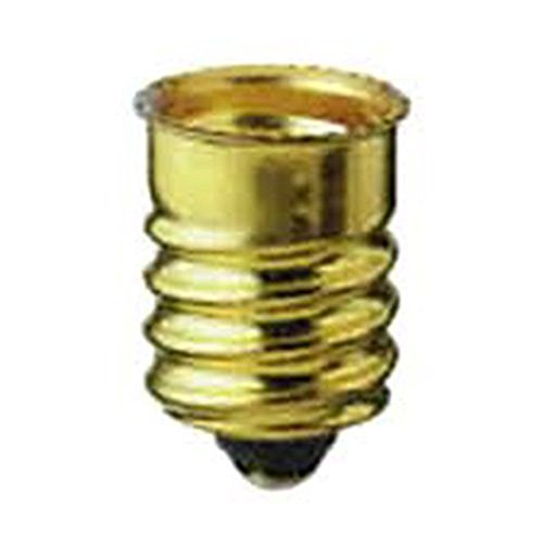 Pack of 10 European Base (E14) to Candelabra Base (E12) Socket Reducer Adapter ()