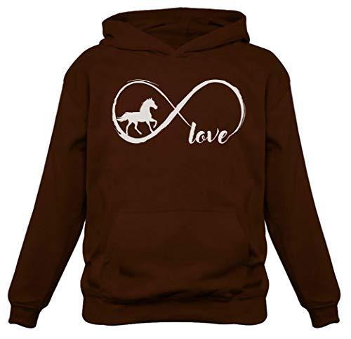 - Gift for Horse Lover Infinite Love Women Horse Hoodie Medium Brown