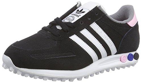 adidas Originals LA Trainer, Baskets Basses Femme Noir - Black (Core Black/Ftwr White/Clear Pink)