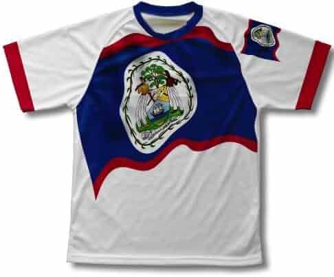 Belize Flag Technical T-Shirt for Men and Women 7dc55289d