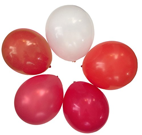 Ruby Cherry Tomato Assorted Mixed RED Mulit-Pack 12'' Inch Rubber Latex Party Balloons for Wedding Bridal Baby Shower Special Event (50 pcs) by Secret for Longevity