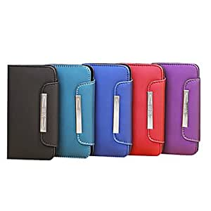 JJE Retro PU Wallet Cover With Card Holder Stand For Samsung I9500 S4 32 , Black