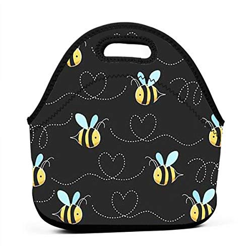 - Uuiuou Bumble Bees Portable Outdoor Bento Large Hand Lunch Bag Baby Bag Satchel Tote Gift for Student Worker Travel Mummy