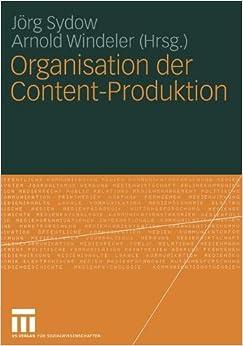 Book Organisation der Content-Produktion (German Edition)