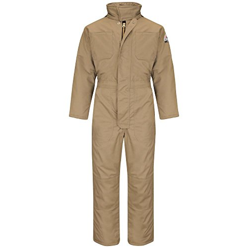 Bulwark Men's Big Premium Insulated Coverall-Excel Fr, Khaki, (Nomex Two Piece)