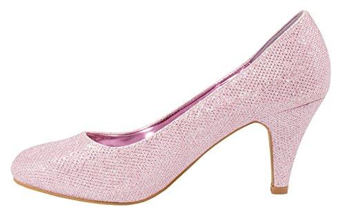 bonbon Escarpins fête Femmes strass Classique rose soirée paillettes Chaussures gF8xq5wPn