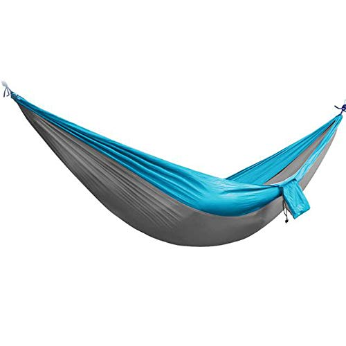 Yetou Camping Hammock Portable Hammock for 2 Person Backpacking Travel Lightweight Hammock Single & Double Parachute Nylon Waterproof Foldable Hiking Hammock