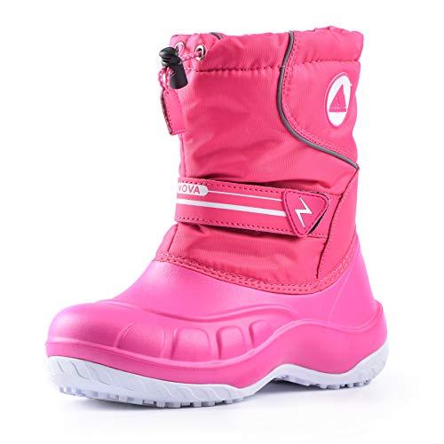 Nova Mountain Little Kid's Winter Snow Boots,NF NFWBN12 Fuchsia 12