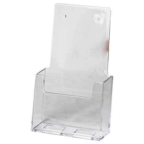 Clear-Ad - LHW-M101 - Acrylic Wall Mount Trifold Brochure Holder (Pack of 6)
