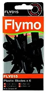 Cuchillas de plástico: Flymo FLY, 015 6 unidades Micro Compact cortadores de auténtica de plástico Carcasa rígida: Micro Compact 30: