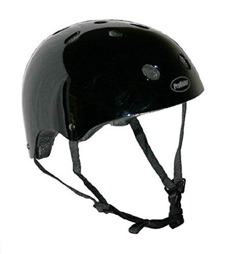 Pro-Rider Classic Bike & Skate Helmet (Black, Small/Medium) ()