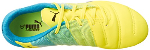 Puma Evopower 4.3 AG Jr - Botas de Fútbol Unisex Niños Amarillo - Gelb (safety yellow-black-atomic blue 01)