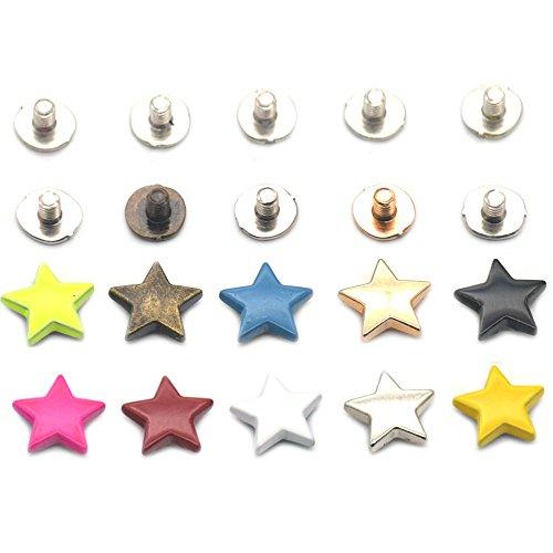 Bluemoona 25 sets - Alloy Stars Shape 12mm 1/2