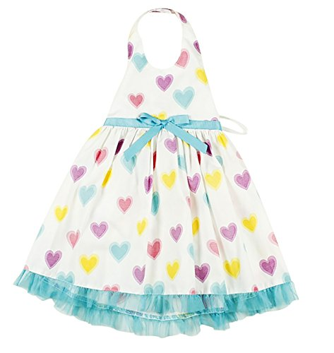 Fancy Hearts Halter-top Toddler Sun Dress (2T) (Toddler Fancy Dress)