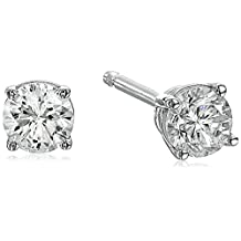 14K White Gold Diamond Stud Earrings (1/4 cttw, K-L Color, I2-I3 Clarity)