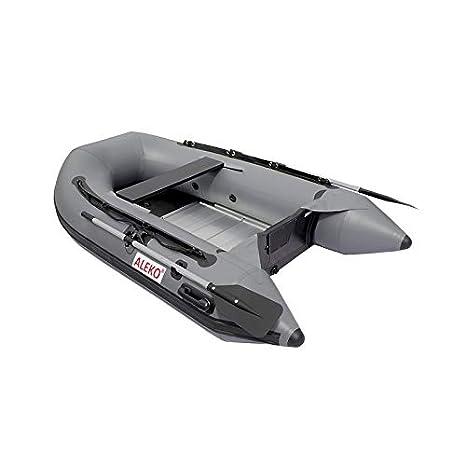 Aleko 8.4 pies Gris Hinchable Barco Aluminio Suelo 3 Persona ...