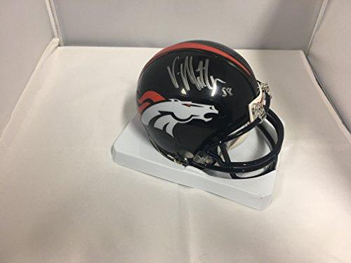 Von Miller Signed Autographed Denver Broncos Mini Helmet Witnessed COA & Hologram