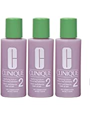 Pack of 3 x Clinique Clarifying Lotion 2 for Dry Combination Skin, 2 oz each Travel Size, Unboxed