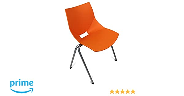 Amazon.com : GloDea Shell Outdoor Chair (Set of 2), Orange : Garden & Outdoor