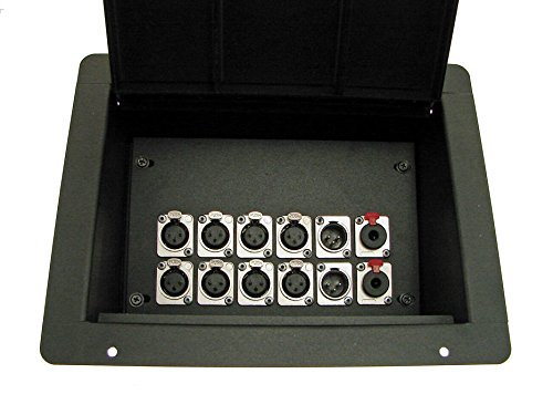 ProCraft Pro Audio Recessed Stage Pocket Floor Box 12 XLR Channels - Any Configuration