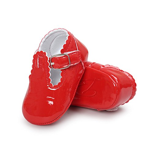 Etrack-Online  Baby Mary Jane Shoes, Baby Mädchen Lauflernschuhe Rot