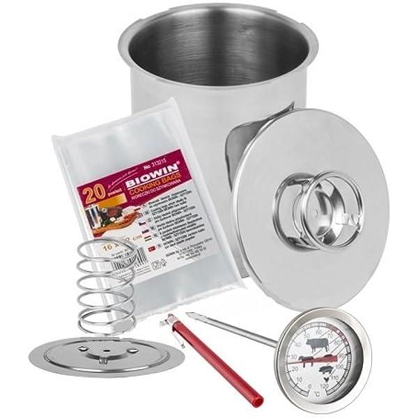 Juego de olla a presión, 1,5 kg, ideal para preparar jamón o paté ...