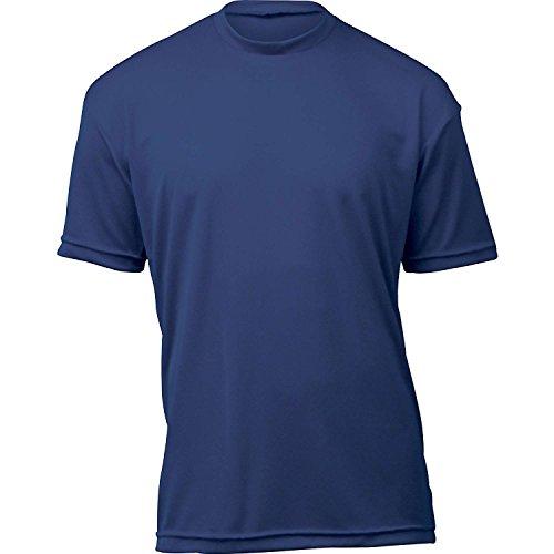 Wsi Sports (WSI Microtech Loose Short Sleeve Shirt, Navy, Youth Large)