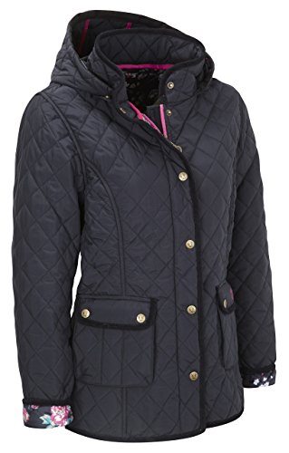 VEDONEIRE Womens Quilted Jacket (5038) Navy blue padded coat (M (up to 38 inch - Sale Usa Boden