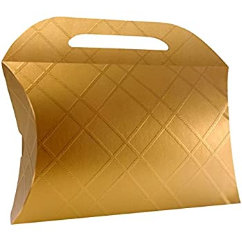 Amazon.com: Decorative Gold Craft Cardboard Gift Boxes. A ...
