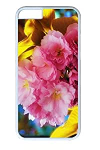 Beautiful Flowers PC Case Cover for iphone 5c and iphone 5c inch White