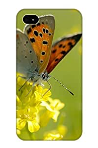 Case For Iphone 4/4s PC Phone Case Cover(animal Butterfly) For Thanksgiving Day's Gift WANGJING JINDA