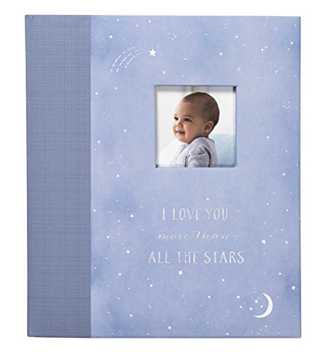 C.R. Gibson First 5 Years Loose Leaf Memory Book, By Carter's, Record Memories and Milestones on 64 Beautifully Illustrated Pages - Wish Upon A Star