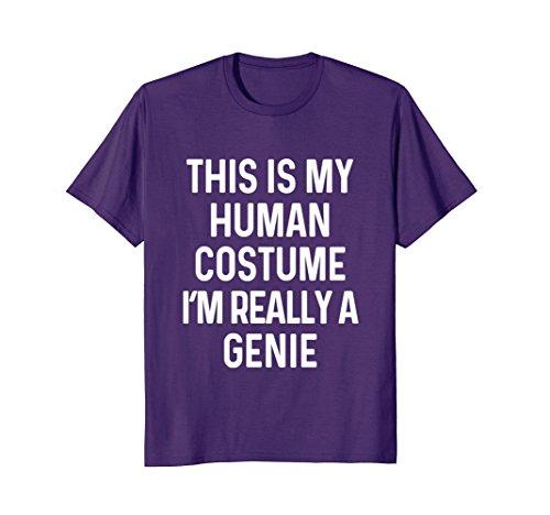 Mens Funny Genie Costume Shirt Halloween Adults Kids Men Women Large (Male Genie Costume Ideas)