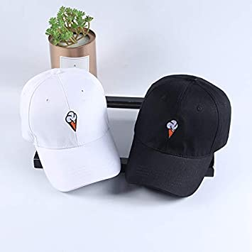 Shuda Donna Cap Hat Cappello Baseball Traspirante e Casuali Modello di gelato carino Cappello Hip Hop Attivit/à allaperto Bianco