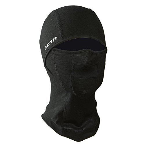 - Chaos CTR Adrenaline Dri Release Multi Tasker Pro Balaclava with Windproof Face Insert and Hinged Construction (Black, Large/X-Large)