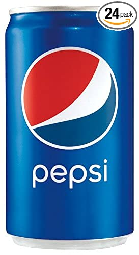 amazon com pepsi 7 5 ounce mini cans 24 pack packaging may vary