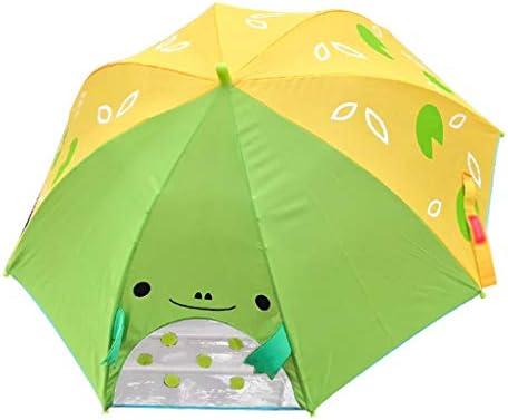 幼稚園の小学校の傘、長いハンドル、簡単に開閉できます、軽量 4