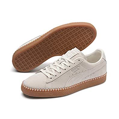 PUMA Adult's SUEDE CLASSIC Sneakers, Whisper White-gum