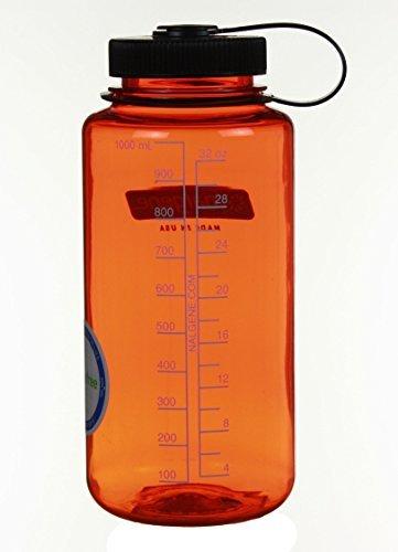 Nalgene Wide Mouth Bottle (Cadet w/Green Lid, 1 QT)