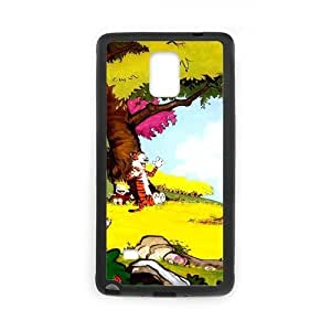 Zyhome Galaxy Note4 Personalized Calvin and Hobbes Pattern Case Cover for SamSung Galaxy Note4 (Laser Technology)