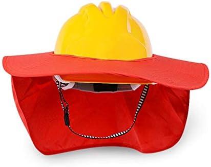 LCSHAN 日よけのヘルメットの建築現場の補強通気性および耐衝撃性 (Color : Red)