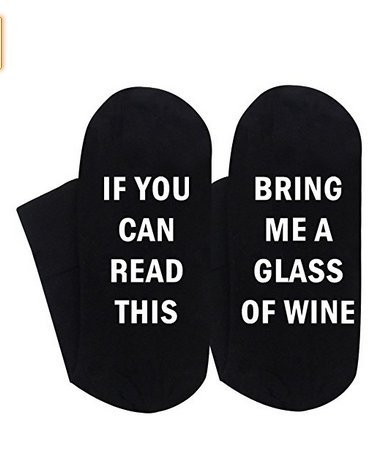 Best gift Funny causale calze di Natale calze calzini iF you can read Wine Christmas Gift for Lover, Friends, mamma e papà questo cotone Xmas socks-black mamma e papà questo cotone Xmas socks-black Aknifetoo
