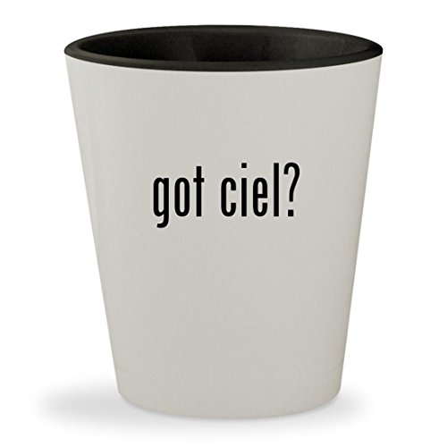 got ciel? - White Outer & Black Inner Ceramic 1.5oz Shot Glass