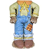 Alpine Corporation QWR938 Alpine Scarecrow Pumpkin Holder Stand with LED Lights, Indoor and Outdoor Harvest Seasonal Autumn Holiday décor, Multi