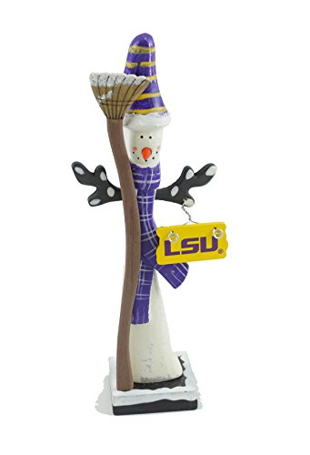 - Hanna's Handiworks Louisiana State Univeristy Snowman Figurine (Striped Hat)